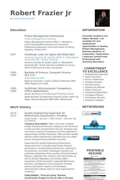 Supervisor Resume samples - VisualCV resume samples database