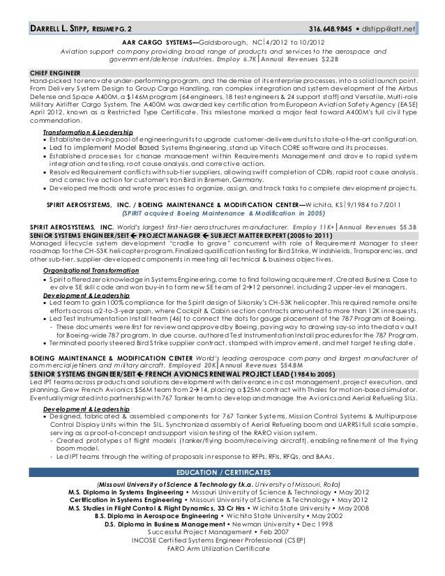 Csep Systems Engineer Sample Resume 14 Ideas Collection Avionics ...