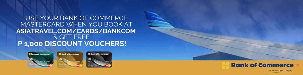 Bank of Commerce | Free Travel Discount Voucher 2017
