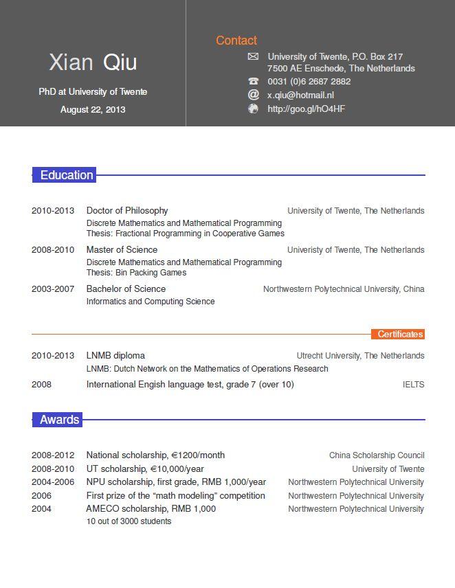 Xian Qiu's homepage
