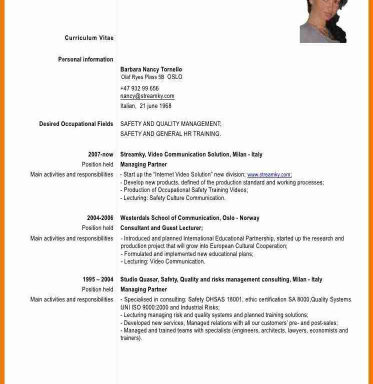 Excellent Design Formal Resume 8 8 For Job - Resume Example