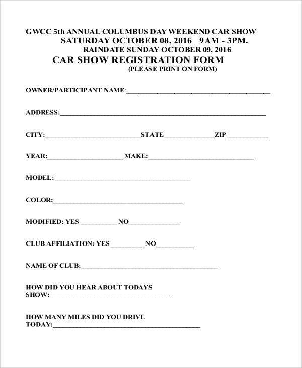 Sample Registration Form - 21+ Free Documents in PDF