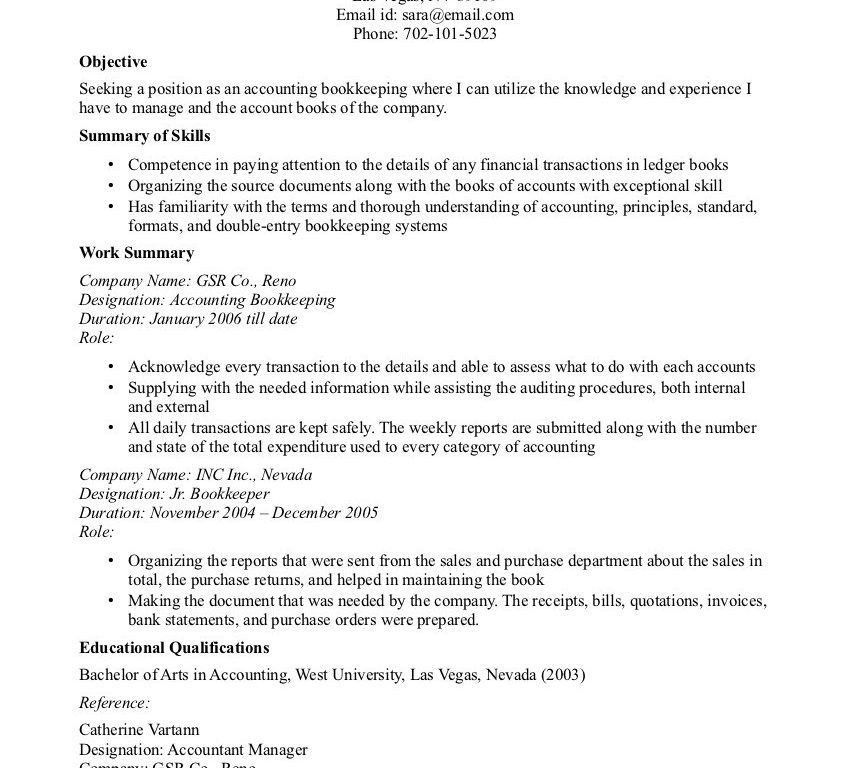 Smart Design Accounting Resume Objective 14 Accounting Resume ...