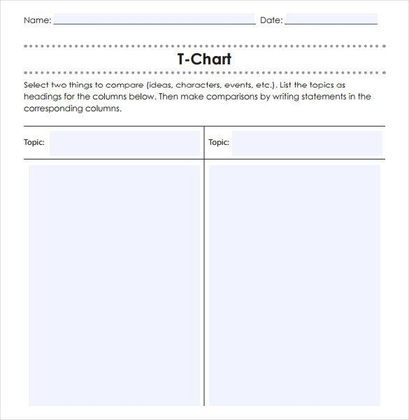 T Chart Template. T Chart Sample Template Free Download T Chart ...