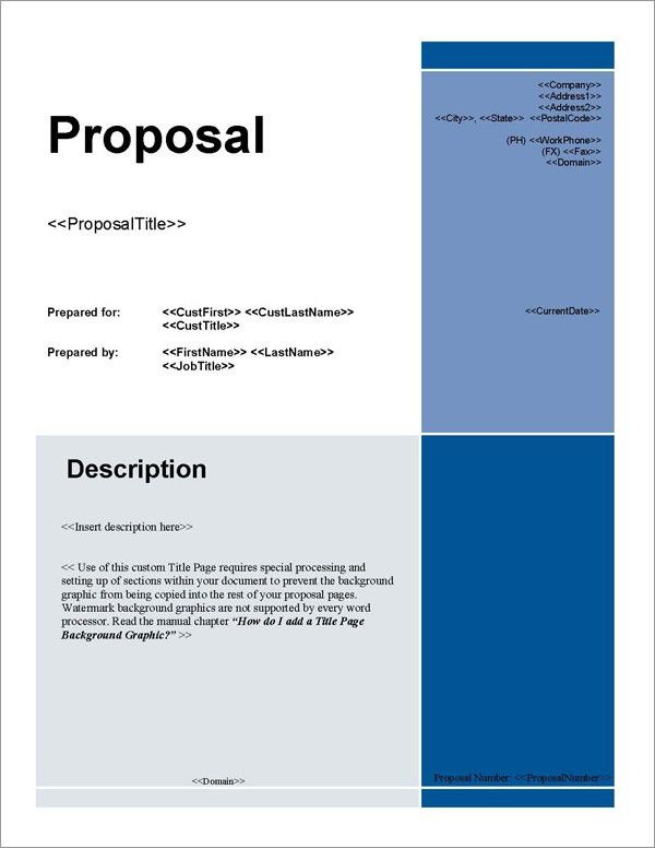 Business Proposal. Informal Business Proposal Sample Business ...