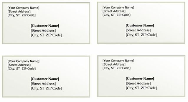Mailing Label Template - vnzgames
