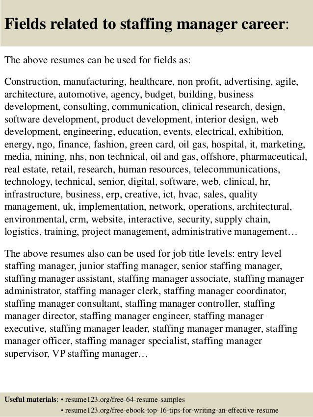 nice staffing manager resume images gallery staffing