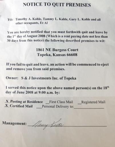 Tenant: Eviction notice is retaliation | CJOnline.com - tenant ...
