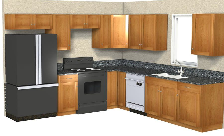 10x10 kitchen designs. pics photos 10x10 kitchen layout with ...