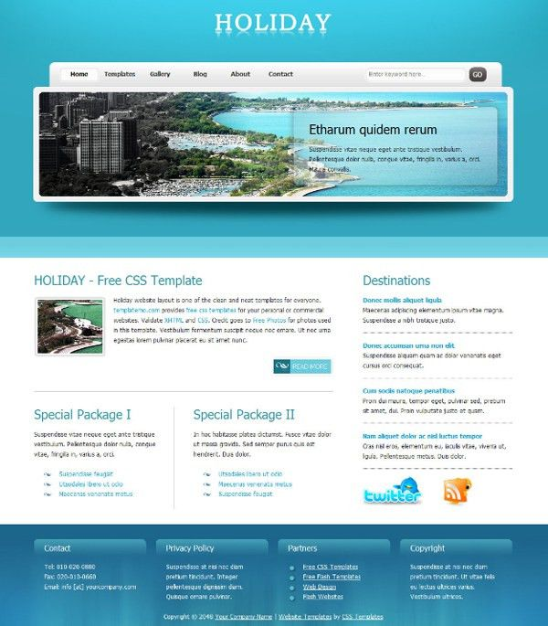 Web Design Blog » Free XHTML CSS Templates for Different Websites