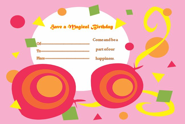 Birthday Party Invitation Template - Microsoft Word Templates