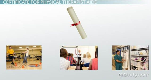 Physical Therapist Aide Certificate and Certification Programs