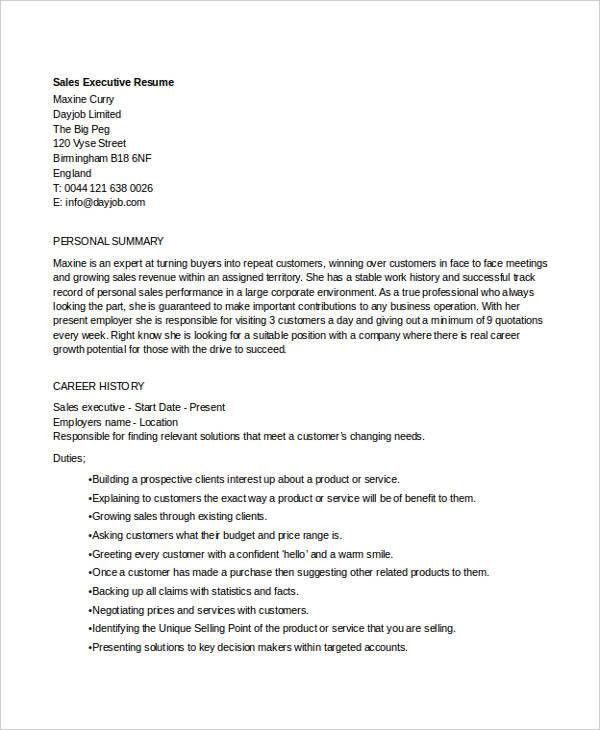 Sales Executive Resume. Excellent Resume Account Management Google ...