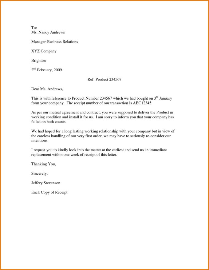 Fabulous Business Letter Sample Format In Word : Vlcpeque