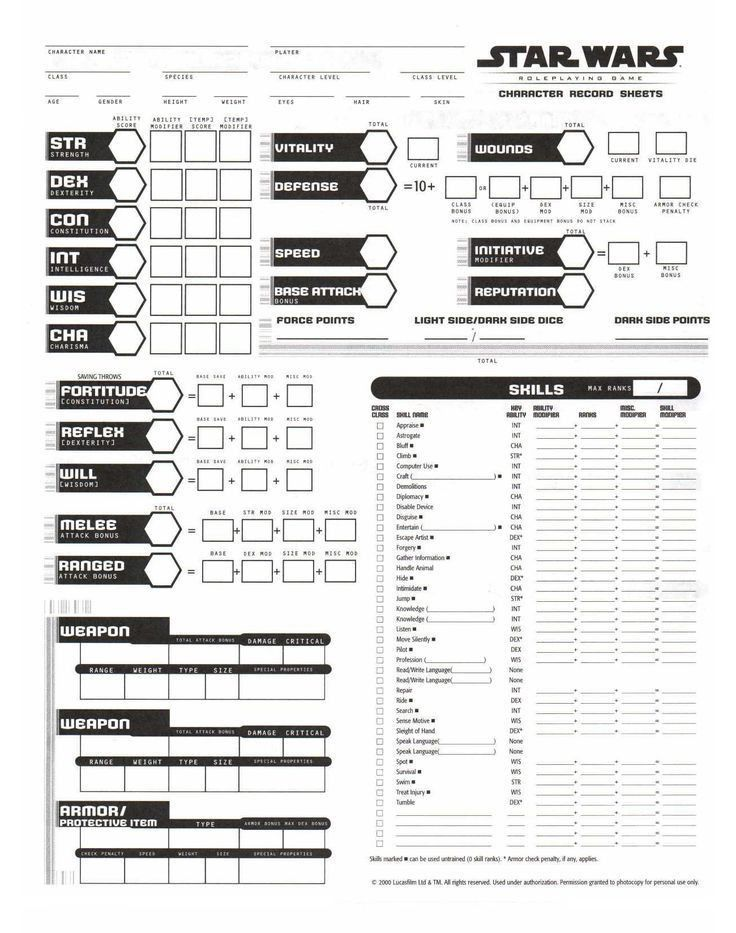 38 best RPG Character Sheet images on Pinterest | Character sheet ...
