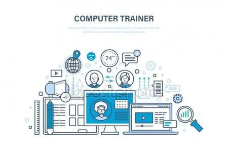 Computer trainer. Personal trainer online. Distance learning ...