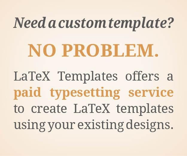 LaTeX Templates » ModernCV and Cover Letter