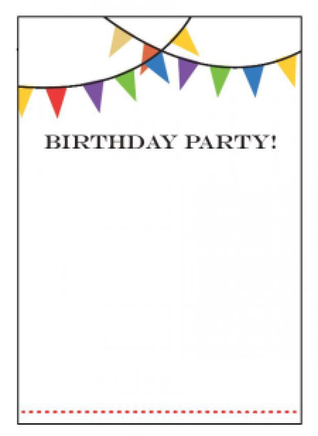 Birthday Party Invitation Template - lilbibby.Com