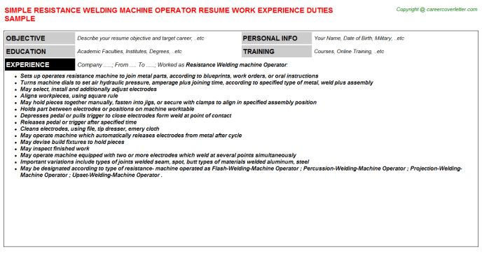 machine operator resume cover letter machine operator resume. cnc ...