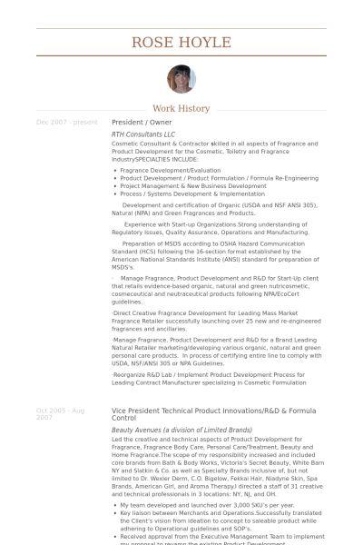 President & Owner Resume samples - VisualCV resume samples database