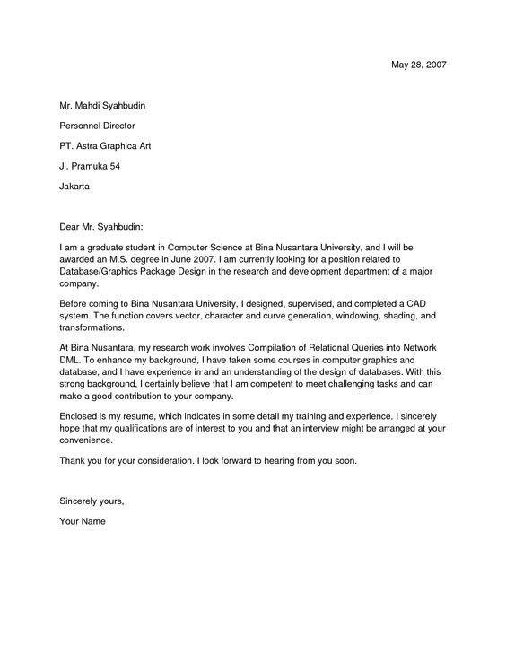 Cover Letter Sample Doc | Samples.csat.co