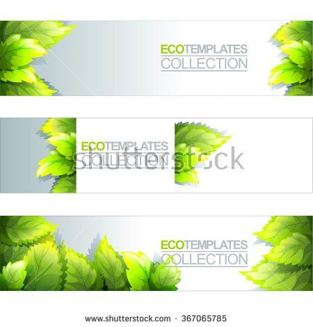 Green Bright Editable Template Eco Natural Stock Vector 367467050 ...