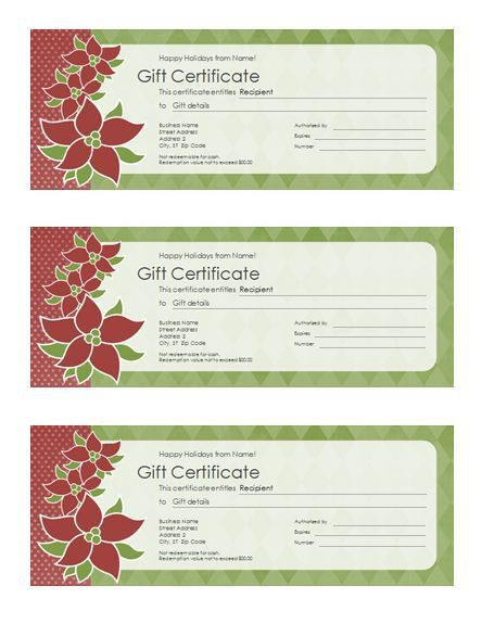 Sample Gift Certificate. 12 Month Netflix Gift Certificate Example ...