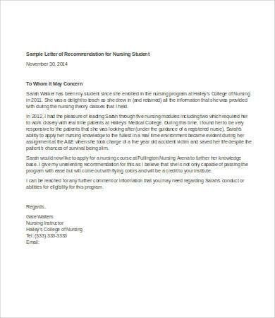 Letter Of Recommendation For Student - 6+ Free Sample, Example ...