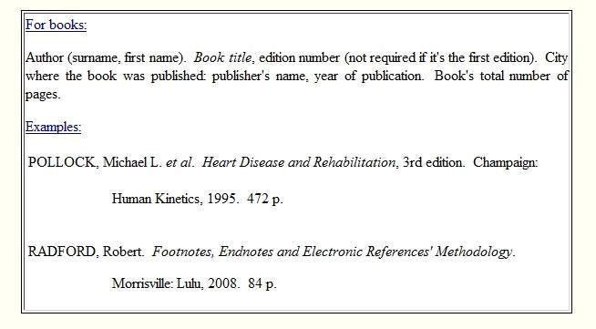 How to write footnotes, endnotes, electronic references and ...