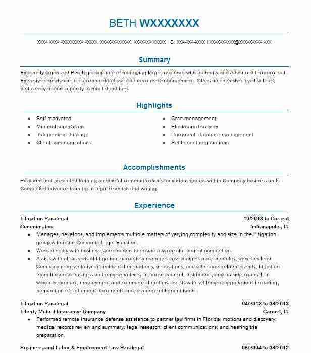 ip litigation paralegal resume paralegal resume sample berathen