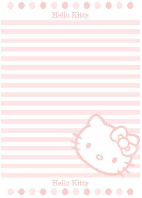 HELLO KITTY Letter writing paper A4 | Stationary, penpal, lined ...