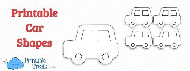 Printable Car Shapes — Printable Treats.com