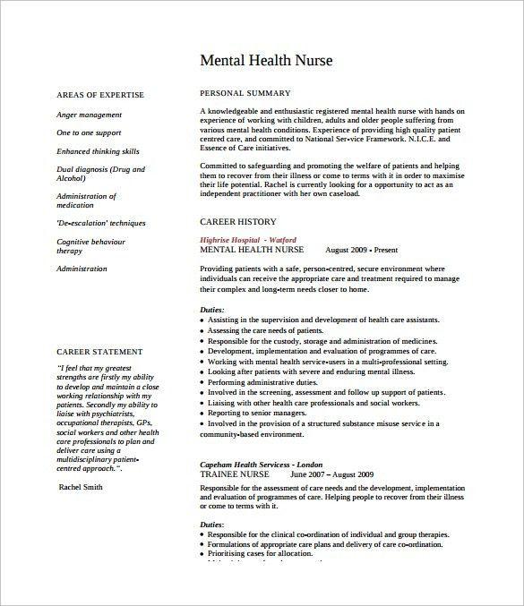 Sample Nursing CV - 7+ Documents in PDF, Word