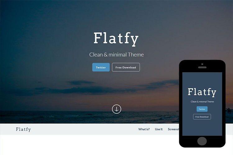 Flatfy – Free Bootstrap Theme - 365BOOTSTRAP