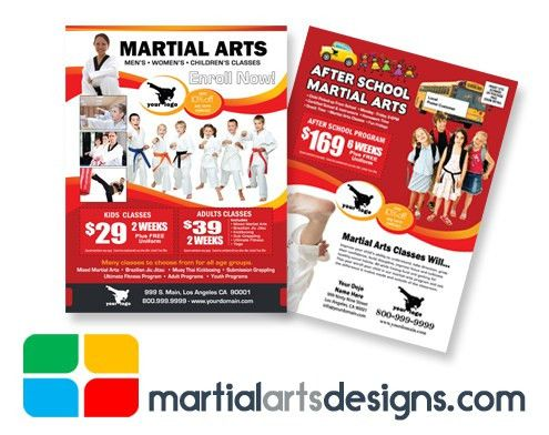 Martial Arts EDDM Postcard Template #MA020010
