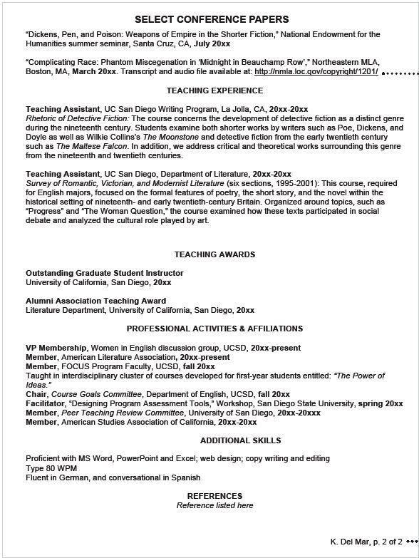 Resume Or Curriculum Vitae 14607 | Plgsa.org