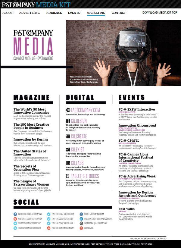 Media Kit inspiration