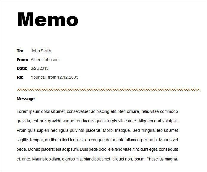 8+ Memo Templates - Free Sample, Example, Format | Free & Premium ...