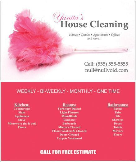 maid-cards.jpg (438×521) | Custom Business Cards | Pinterest ...