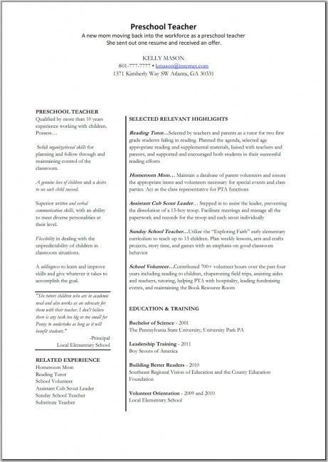 Teacher S Aide Resume. fresh teacher resume samples 10 teachers ...