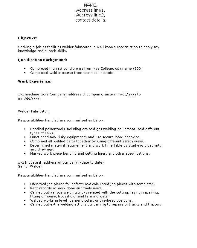 structural welder cover letter sample good essay welder resumes ...
