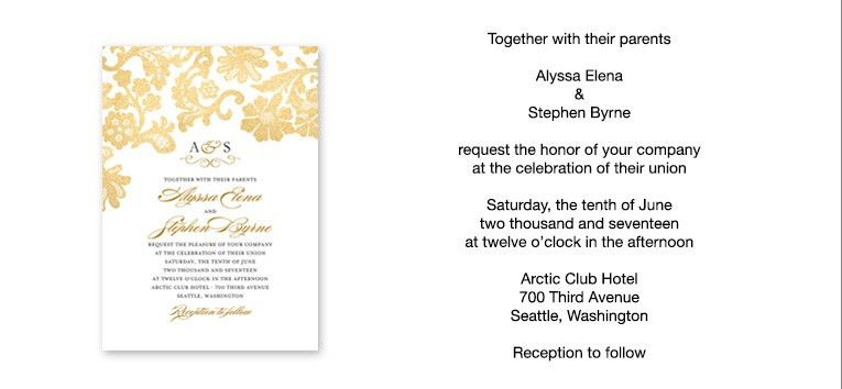 Wedding Invitation Sample Wording - vertabox.Com