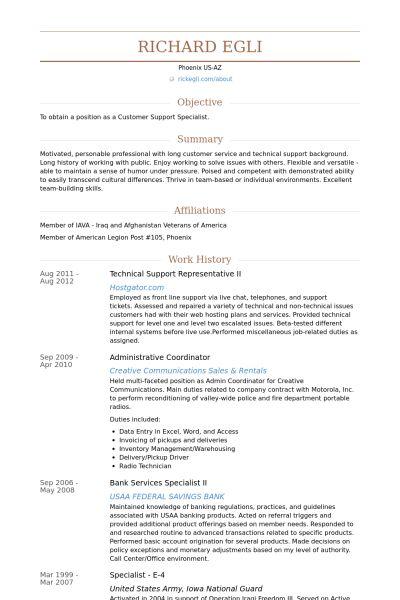 Technical Support Representative CV Örneği - VisualCV Özgeçmiş ...