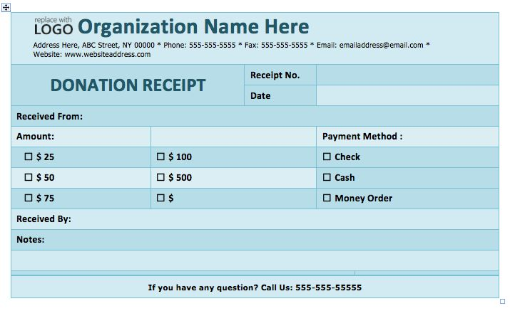 Donation Receipt Template | Format & Template