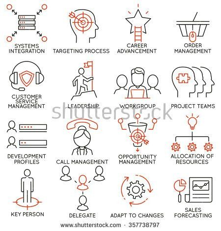 Vector Set Icons Related Career Progress Stock Vector 360608579 ...