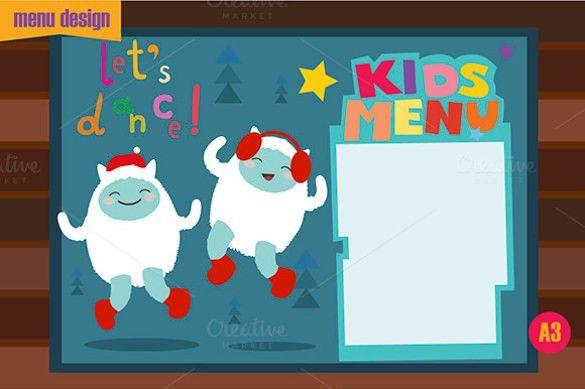 Free menu design templates menu design template 40 free psd eps kids menu template 25 free psd eps documents download free pronofoot35fo Gallery
