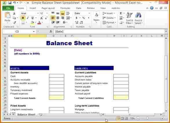 program sheet template