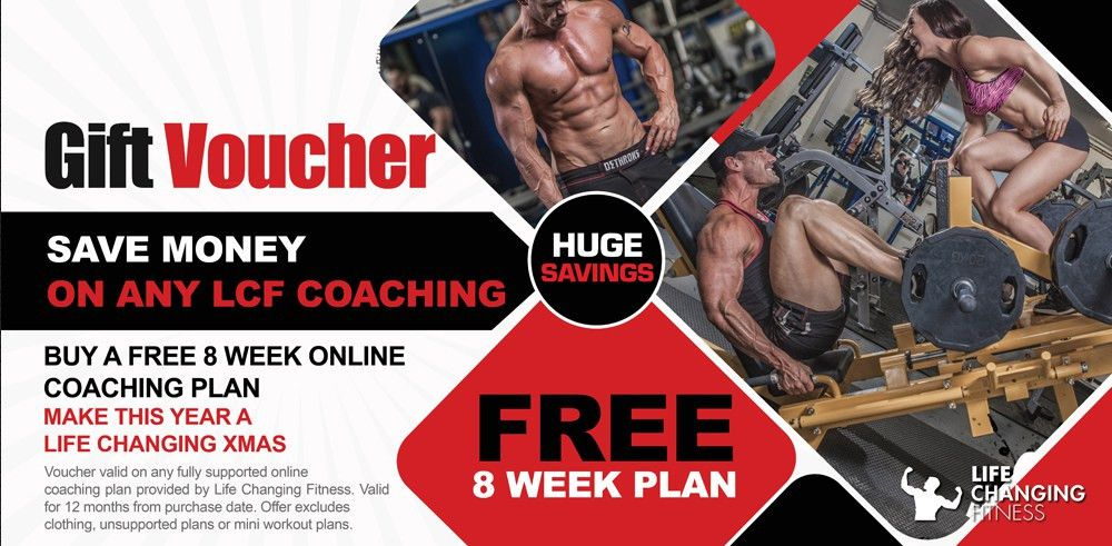 FREE 8 WEEK ONLINE COACHING PLAN VOUCHER - Life Changing Fitness