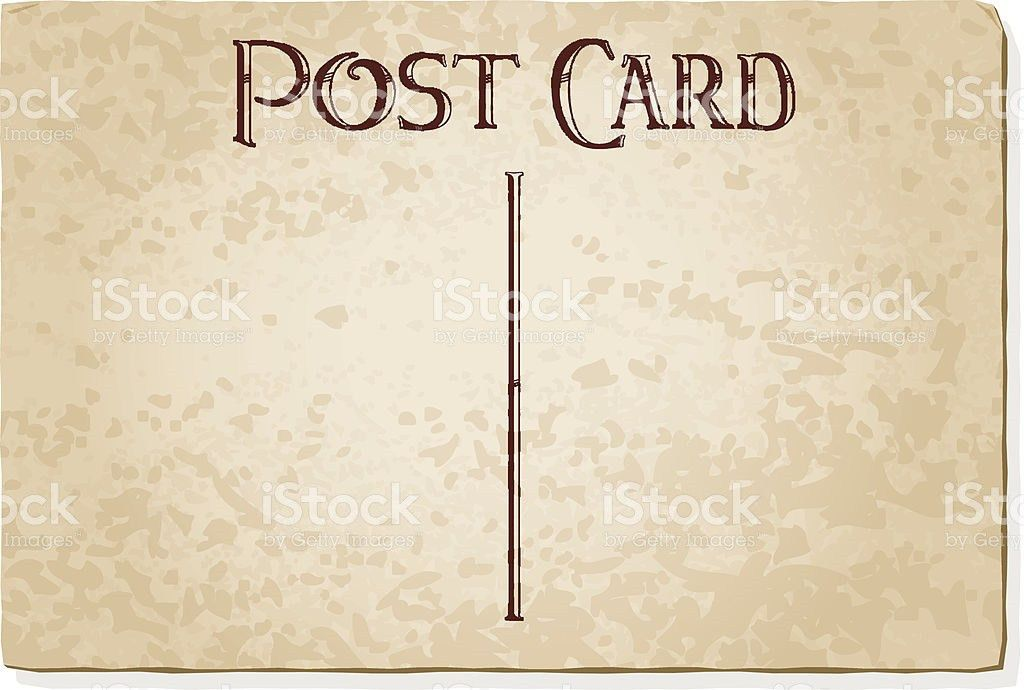 Vintage Postcard Template stock vector art 165980703 | iStock