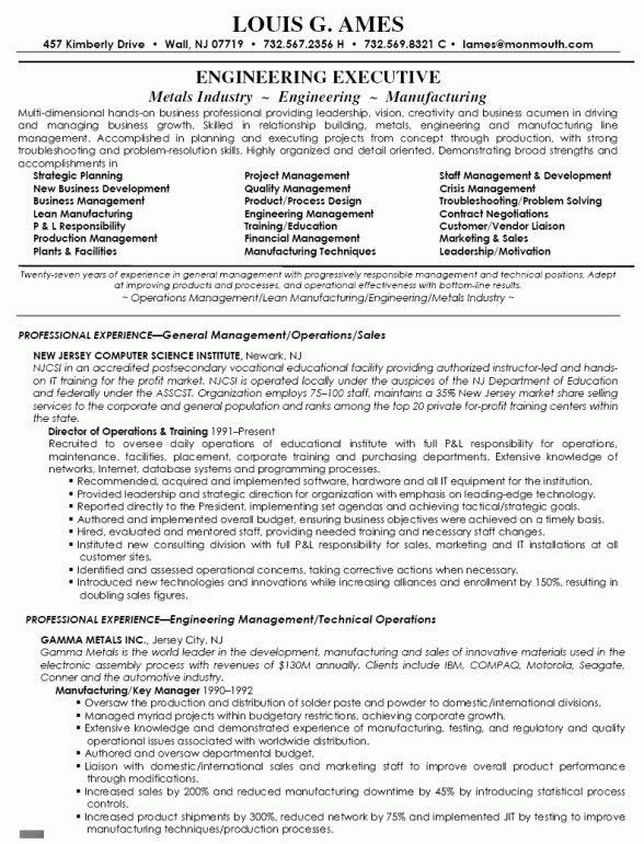 Director of Operations Resume Sample | RecentResumes.com